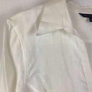 Brooks Brothers Tops - Brooks Brothers Women's White Linen blouse SZ 14